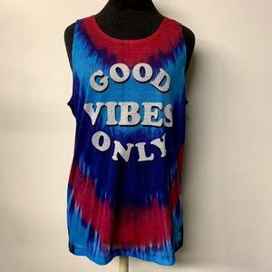 Good Vibes Only Tie Dye Tank Top Festival Boho